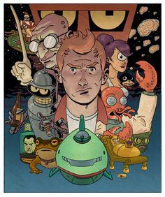 """Futurama"" by Evan Shaner"