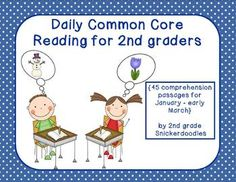 Set 3 is ready! 45 reading passages for the 3rd nine weeks (January - early March) All of the passages align to a Common Core standard.  There are 5 comprehension questions for each passage.  2nd Grade Snickerdoodles $