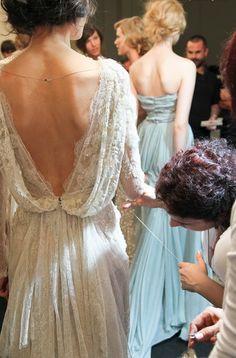 backstage Elie Saab Haute Couture