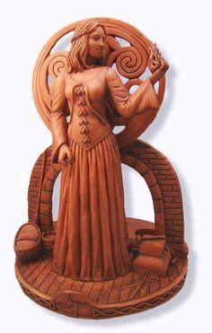 Brigit Candle Holder Celtic Goddess Figurine or Statue