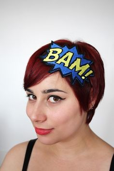 Holy Headband, Batman! Comic con casual wear? ;) love this!