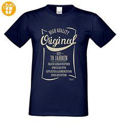 Zum 70. Geburtstag / Herren Geburtstags-tshirt / Mega Geschenke-Idee in allen Größen von S-5XL / Print: Original seit 70 Jahren Farbe: navy-blau Gr: XL (*Partner-Link)