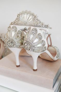 f72adb784b8 Emmy London Crystal Embellished Shoes Fine Detail Hand Embroidery Mirror  and Glass Cinderella Bridal Shoes Sandals