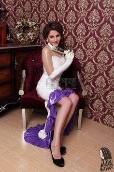 Trumpet beauty latex dress