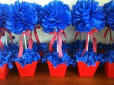 5989_473602862723175_1949451862_n Sonic Party, Diy And Crafts, Crafts For Kids, Baby Shower Souvenirs, Carnival Themed Party, 1st Birthday Girls, Flower Making, Box Art, Table Centerpieces