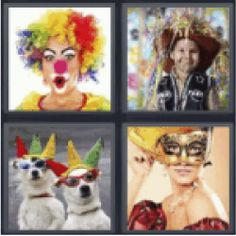 12 best 4 pics 1 word 7 letters images on pinterest calligraphy 4 pics 1 word woman in clown outfit boy at a parade dogs with expocarfo Image collections
