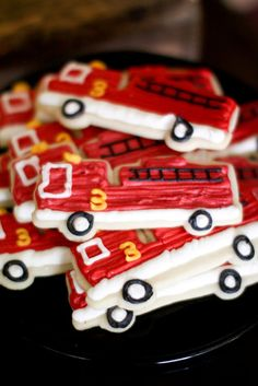 Vintage Fire Station Birthday | Jenny Cookies