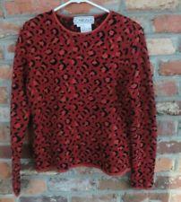 $49.95 OBO Women's Carlisle Multi Colored Animal Print Silk Blend Sweater Size: Small Free Shipping