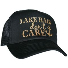 """Lake Hair Don't Care"" Glitter Trucker Hats"