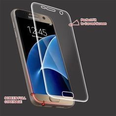 MYBAT Screen Protector for Samsung Galaxy S7 - Curved Coverage