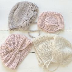 Instagram photo by @stinelindgren (Stine) | Iconosquare Baby Knitting, Crochet Baby, Knit Crochet, Baby Bonnets, How To Purl Knit, Baby Hats, Lana, Knitted Hats, Winter Hats