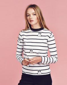 Lazy Oaf Bunny Stripe T-shirt - Everything - Categories - Womens http://www.uksportsoutdoors.com/product/adidas-womens-oh-hoody-sweatshirt-blacknegro-x-large/