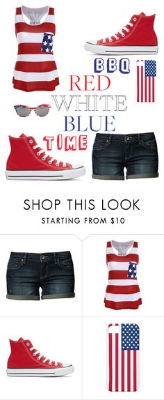 """""""happy 4th of July!"""" by a-hidden-secret ❤ liked on Polyvore featuring ESPRIT and Converse"""