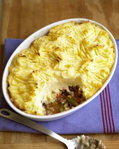 Shepherd's Pie ADD 2 tbs flour, 1 cup chicken stock, 1 tbs rosemary, 1tbs Worcestershire sauce. Mashed potatoes-1.5lbs potatoes, 1/2 c half and half, 1/2 cup milk, 4 tbs nestled butter, 1/4 cup sour cream, salt.