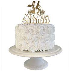 Bride And Groom Tandem Bike Personalised Wedding Cake Topper