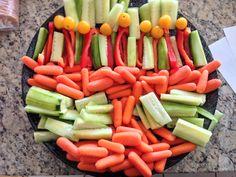 Menorah veggie tray  #hanukkah