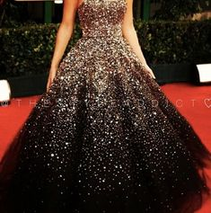 Fancy black and gold sparkly dress ball gown