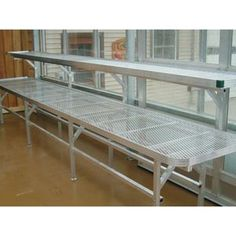 Greenhouse Accessories - Greenhouse Shelving & Benching - Premium Greenhouse Benches (Brick Shed Plans) Greenhouse Benches, Greenhouse Shelves, Greenhouse Interiors, Greenhouse Growing, Small Greenhouse, Greenhouse Plans, Greenhouse Gardening, Greenhouse Wedding, Aquaponics System
