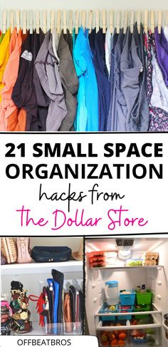 21 Dollar Store Organization Ideas For Small Spaces | Dollar Store hacks | small space organization ideas