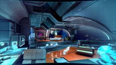 Mass Effect: Andromeda – 580 photos Spaceship Interior, Futuristic Interior, Futuristic Art, Futuristic Architecture, Futuristic Houses, Sci Fi City, Cyberpunk Aesthetic, Environment Concept Art, Mass Effect