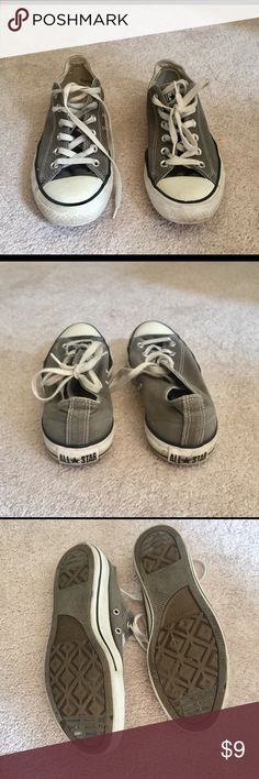 Grey Low-Top Converse All Star These are gray Converse low tops all star shoes in good condition. They do have some scuffing but no tears. Converse Shoes Sneakers
