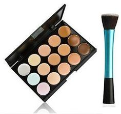 Niwota Professional Cosmetic Makeup Brushes 15 Colours Cream Conceale Palette Kit Set *** Learn more by visiting the image link. (Note:Amazon affiliate link) #MakeupPalettes