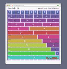 Responsive Grid CSS 12 Columns.  Como Criar Sites Responsivos com Grid CSS 3 - Parte #1 ⋆ CarlosHPS Blog http://buff.ly/2a6dXsq #grid #wireframe #responsive #responsivedesign #webdesign #carloshps