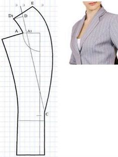 Diy Crafts - -Outstanding 15 Beginner sewing projects tips are readily available on our website. look at this and you wont be sorry you did. Bodice Pattern, Collar Pattern, Jacket Pattern, Coat Patterns, Dress Sewing Patterns, Clothing Patterns, Sewing Pants, Sewing Clothes, Sewing Collars