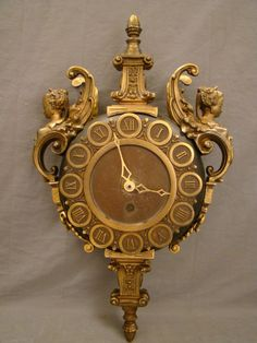 Cast Spelter Clock from the mid 20th century