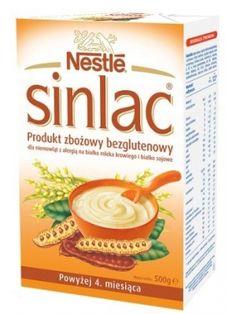 NESTLE 500g Sinlac Bezglutenowy Produkt Zbożowy po 4 Miesiącu  • dla dzieci od 4 miesiąca życia • produkt zbożowy • nie zawiera glutenu ani laktozy • bezpieczny dla alergików