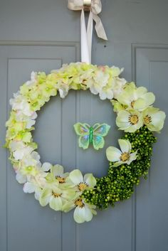 simple door wreath - HOME SWEET HOME - Knitting, sewing, crochet, tutorials, children crafts, papercraft, jewlery, needlework, swaps, cooking and so much more on Craftster.org