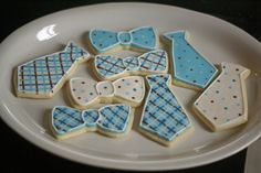 bow tie cakes | These are some tie and bow tie cookies I did for my friend Elizabeth ...