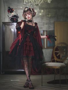 The Nine Songs -The Mountain Spirit- Gothic Lolita JSK,Lolita Dresses, Harajuku Fashion, Lolita Fashion, Fashion Outfits, Beautiful Models, Beautiful Outfits, Gothic Lolita Dress, Other Outfits, Casual Street Style, Daily Fashion