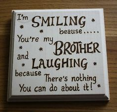 Wedding Gift For Boyfriends Brother : brother poems from sister New Baby Brother Poem http://www.ebay.com ...