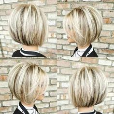 50 best pixie and bob cut hairstyle ideas 2019 - hairstyles - bob hairstyles - Short Stacked Bob Haircuts, Short Stacked Bobs, Stacked Bob Hairstyles, Popular Short Hairstyles, Short Hair Cuts, Bob Hairstyles For Fine Hair Choppy, Cute Bob Haircuts, Short Bobs, Bobs For Thin Hair