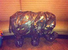 Metal Overlay elephant.