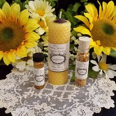 Sunflower Candle Oil & Petals Set Fertility by TheShabbyWitch