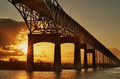 I-10 Bridge from Lake Charles into Westlake, LA.