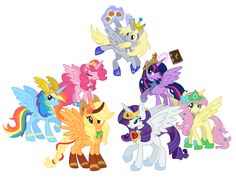 All of the ponies are alicorns, but only Mom's favorite is the leader here. Mom, Derpy Hooves is here!