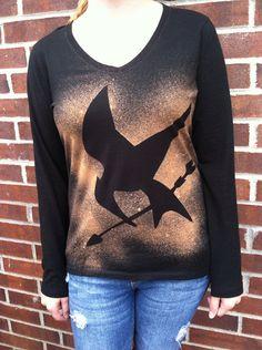 Custom Hunger Games Longsleeved Mockingjay Shirt