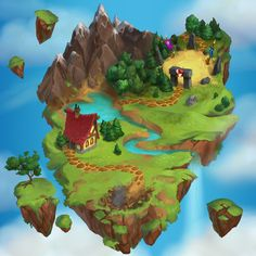Map created for the game Heroes of Puzzlestonehttps://play.google.com/store/apps/details?id=com.plarium.heroes&hl