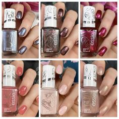 Want to see a remix on 6 classic Essie shades? Essie released 6 spin off shades that are must haves for polish lovers! Essie Nail Polish Colors, Nail Colors, Beautiful Nail Polish, Gussied Up, Nail Polish Collection, Almond Nails, Gold Pearl, Pretty Nails, How To Introduce Yourself