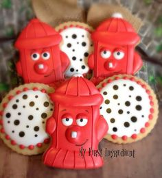 Michelle West-sion, My First Ingredient:  Fire hydrant and Dalmatian inspired round cookies.