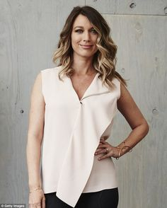 Lucky girl: Natalie Zea has landed a hit TV show and had her first baby all within one yea...