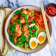 Fried Chicken Ramen - Great recipe for the broth if you dont want the fried chicken!