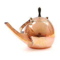 Copper teapot design execution by Jan Eisenloeffel 1876-1957 / the Netherlands ca.1905