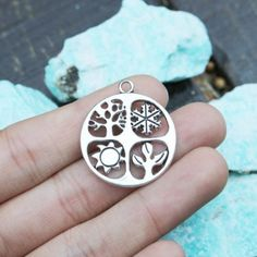 Buy Now set of 5 four seasons charms antique silver metal. Antique Silver, Silver Metal, Four Seasons, Silver Charms, Charmed, Antiques, Pendant, Handmade, Etsy