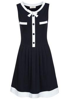 Just Trend - Vestito di maglina - nero #vintage