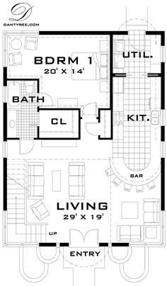 One floor, no 2 nd