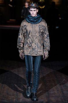 The Best of Milan Fashion Week Fall/Winter 2014 Baroque Fashion, High Fashion, Fashion Show, Fashion Looks, Mens Fashion, Fashion Design, Milan Fashion, Fashion Menswear, Dolce & Gabbana